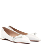 ballet,flats,ballet flats,leather,white,shoes