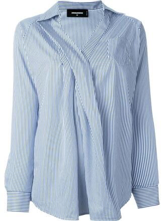 shirt striped shirt blue top