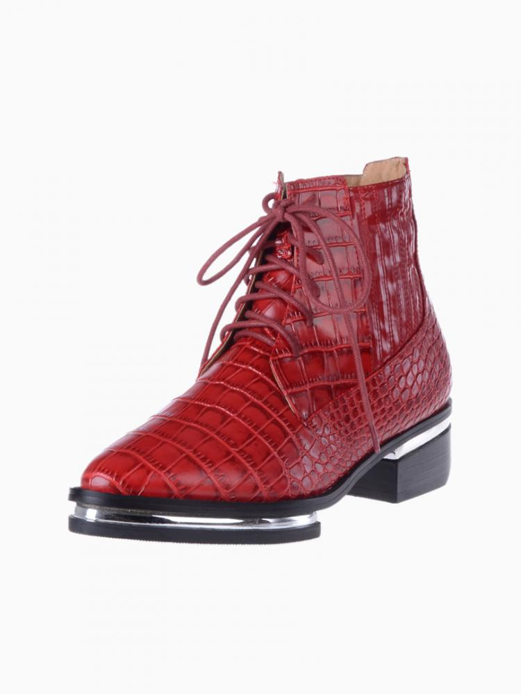 Croco anckle boots