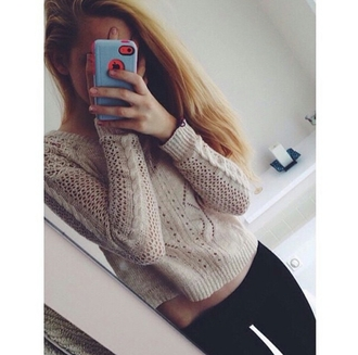 sweater cropped sweater leggings black leggings cozy christmas