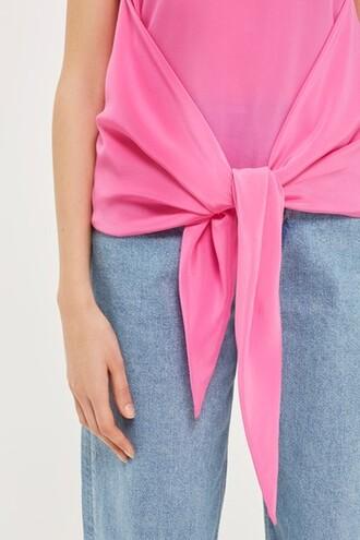 vest silk pink jacket