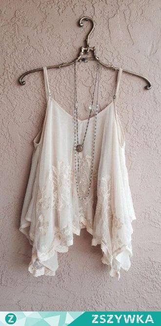top clothes lace delicate ecru summer cute