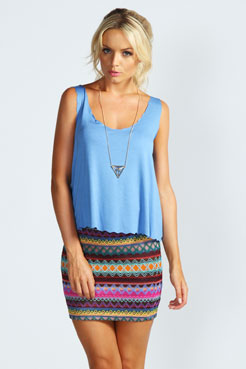 Cora Scallop Edge Jersey Vest at boohoo.com