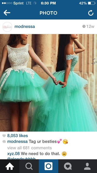 dress teal dress lace dress long dress