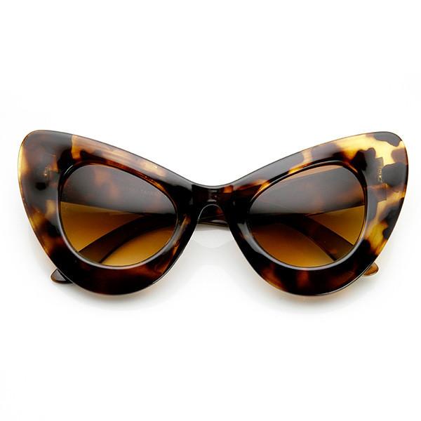 Fierce kitty cat eye sunglasses in tortoise – flyjane