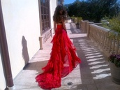 dress,red,prom dress,gorgeous,love,long dress,prom