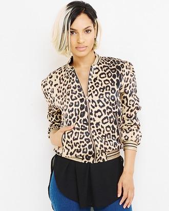 jacket bomber jacket leopard print leopard print jacket