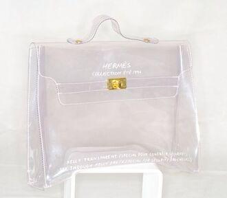 bag perspex clear hermes handbag plastic transparent  bag