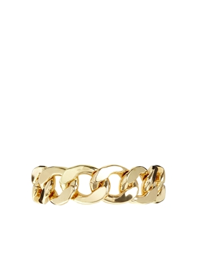 Monki | Monki Rebecka Gold Chain Bracelet at ASOS