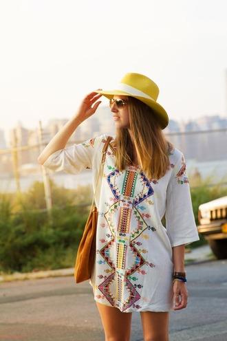 thank fifi blogger tunic dress aztec