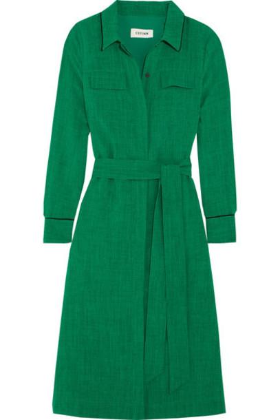 Cefinn dress shirt dress green