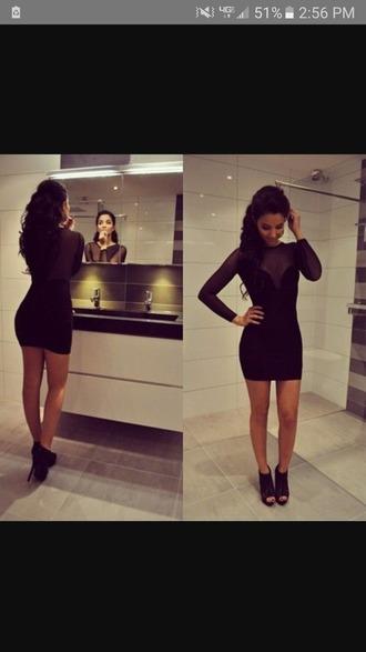 dress black dress tight dresses homecoming short sexy classy