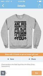 shirt,pokemon,charmander,squirtle,poem,grey sweater,love quotes,valentines day,sweater