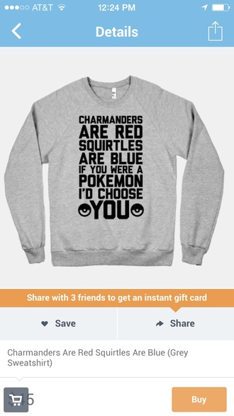 shirt pokemon charmander squirtle poem grey sweater love quotes valentines day