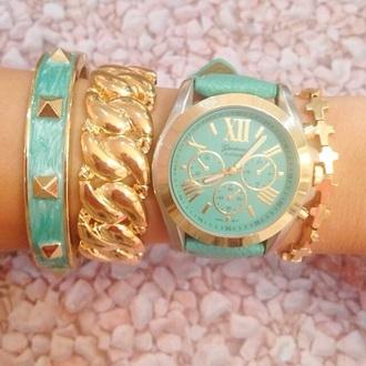 jewels watch blue gold gold bracelets