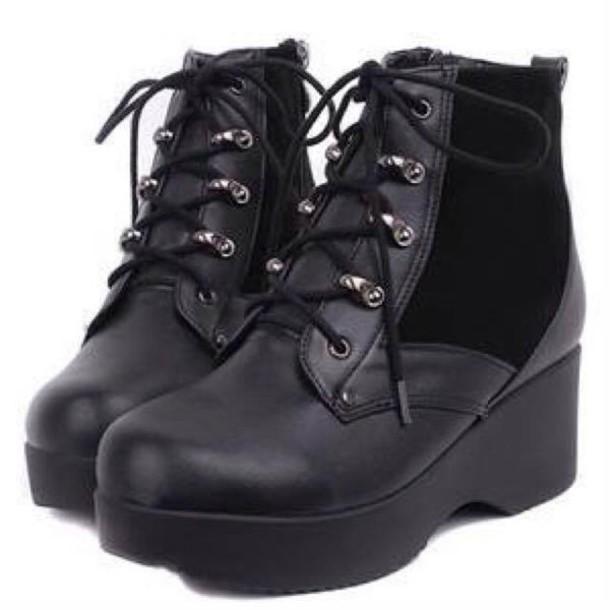 shoes shoes black platform shoes boots platform shoes heels