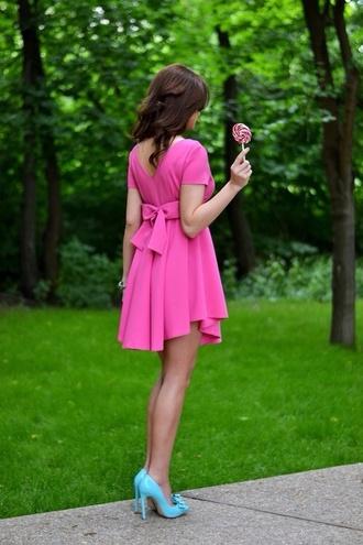 bows pink dress pink dress bow back dress