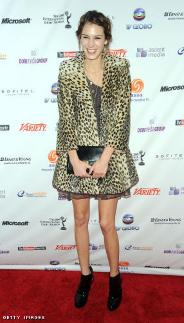 coat leopard print alexa chung