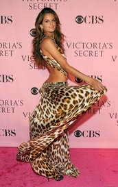 dress,leopard print,sheer,izabel goulart