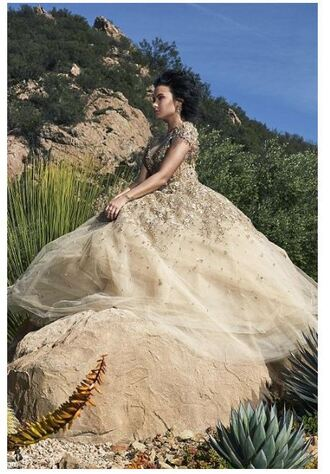 dress gown prom dress demi lovato long prom dress wedding dress editorial