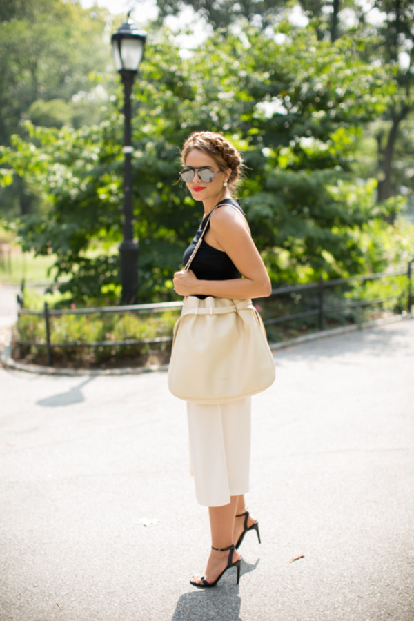 gal meets glam blogger top sunglasses shoes bag make-up jewels
