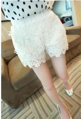 2014 High Qualtiy Drop Shopping 2 Color Sweet Cute Crochet Daisy Lace Shorts women Skorts Short Pants free shipping-in Shorts from Apparel & Accessories on Aliexpress.com | Alibaba Group