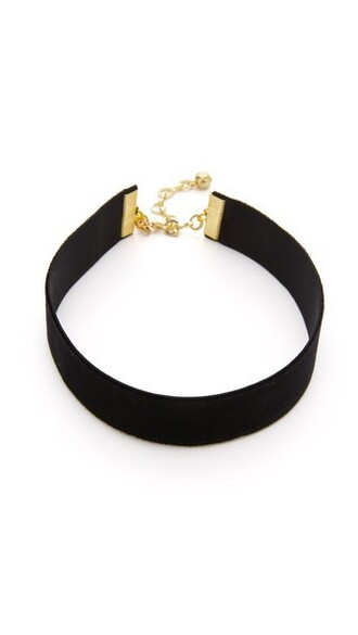 necklace choker necklace black velvet jewels