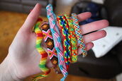 jewels,bracelets,yarn bracelet,friendship bracelet