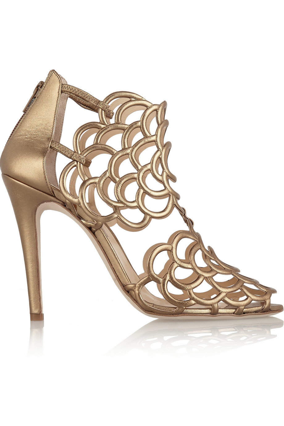 Oscar de la renta gladia cutout leather sandals – 65% at the outnet.com