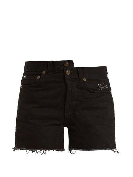 Saint Laurent shorts denim shorts denim high black