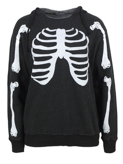 Wild fox ribs clean black sweatshirt  at coggles.com online store