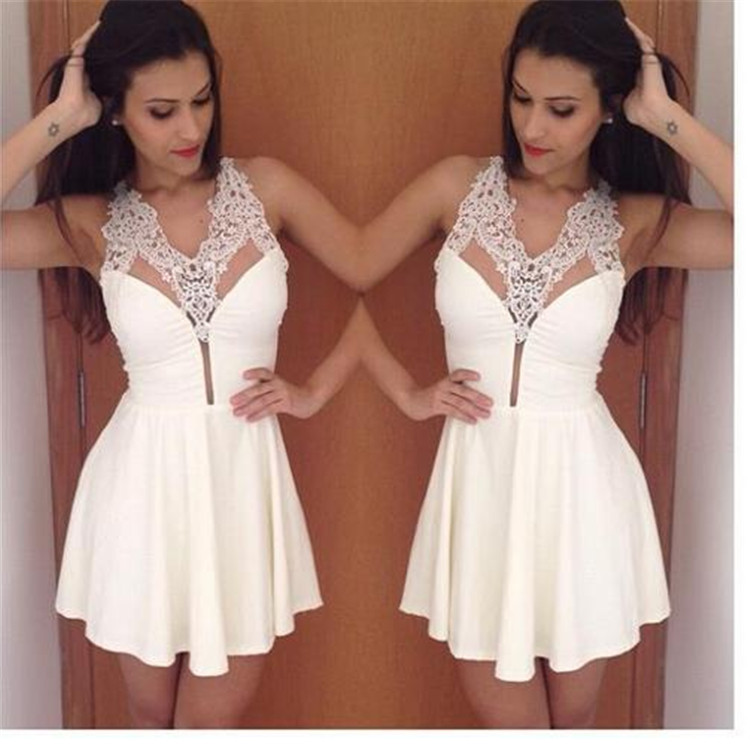 HOT 2015 tropical Women new Summer Dress Sexy V neck Lace patchwork Casual white party Dresses Plus Size Women Clothing 14048-in Dresses from Women's Clothing & Accessories on Aliexpress.com | Alibaba Group