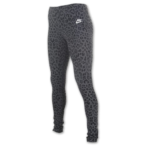 Women's Nike Leg-A-See Signal Cheetah Print Leggings | FinishLine.com | Dark Grey