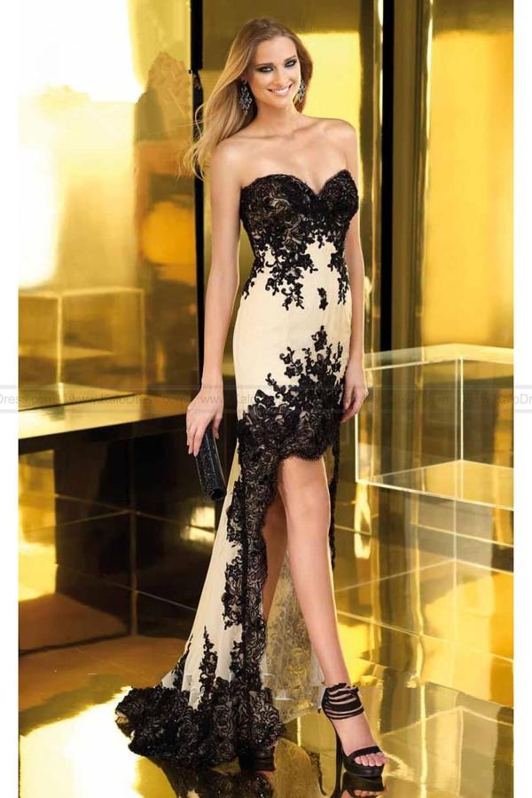 prom dress dress strapless bustier dress lace dress lace