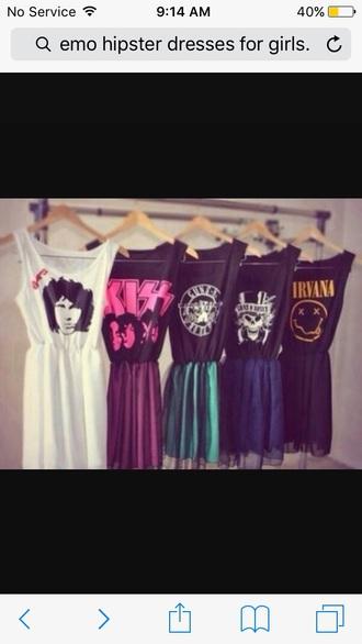 dress kiss nirvana dress emo