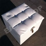 CUBE White Faux Leather Pouffe Footstool Stool Chair: Amazon.co.uk: Kitchen & Home