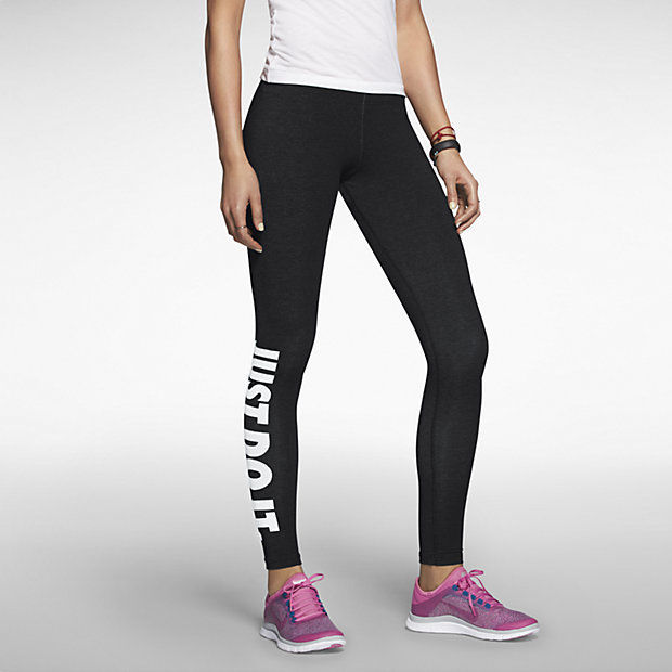 Nike Pro Leg A See JDI Tight Leggings Black & White JUST DO