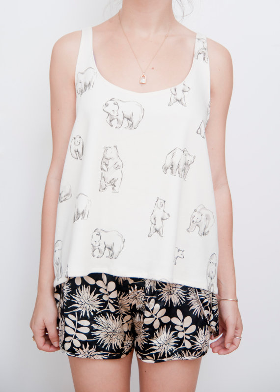 Bears Print Tank by leahgoren on Etsy