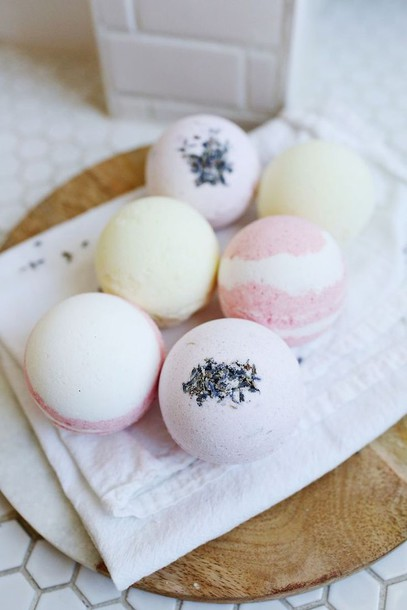 home accessory pastel cosmetics bath bomb lemongrass pastel pink body care