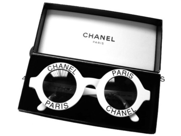 chanel sunglasses paris black and white glasses