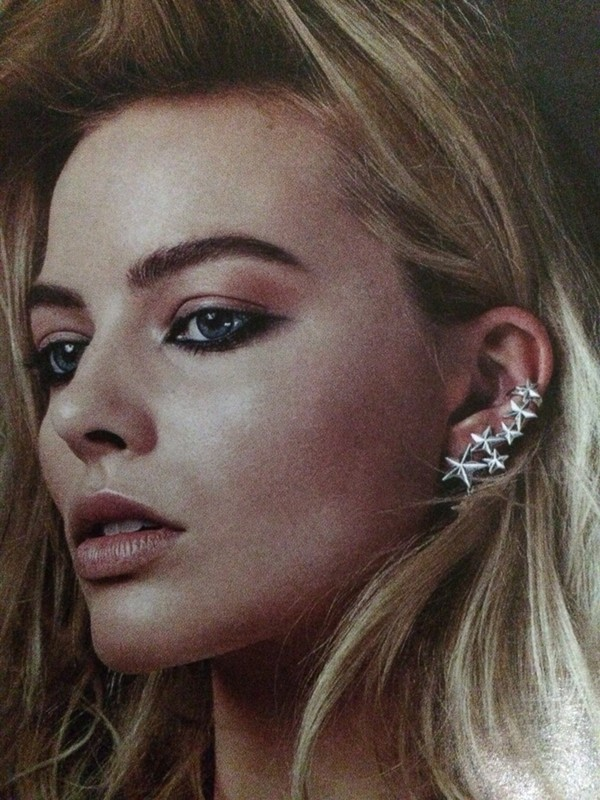 jewels ear cuff statement earrings stars silver earrings margot robbie