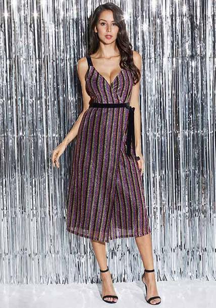 dress midi dress high waisted stylish dress women clothing stripes