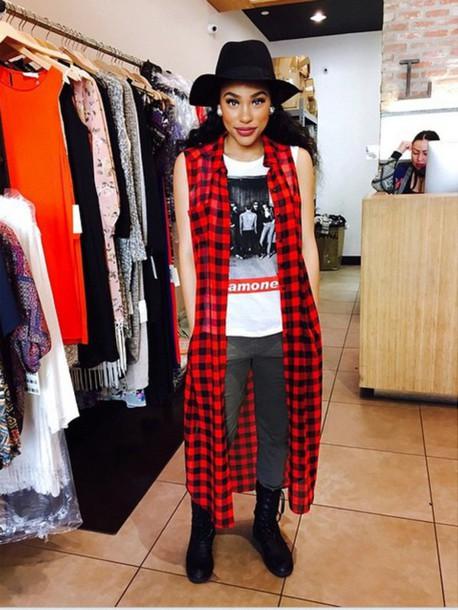 cardigan red black itsmyrayeraye beautiful swag swag jacket scottish tartan dope flannel shirt flannel rayeraye