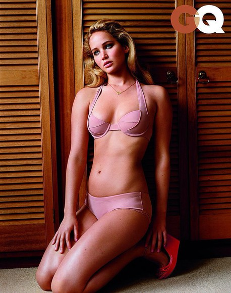 swimwear pink bikini jennifer lawrence