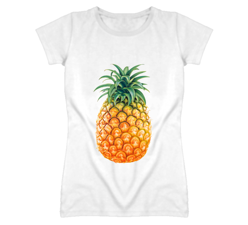 Colourful Tasty Pineapple Graphic T Shirt