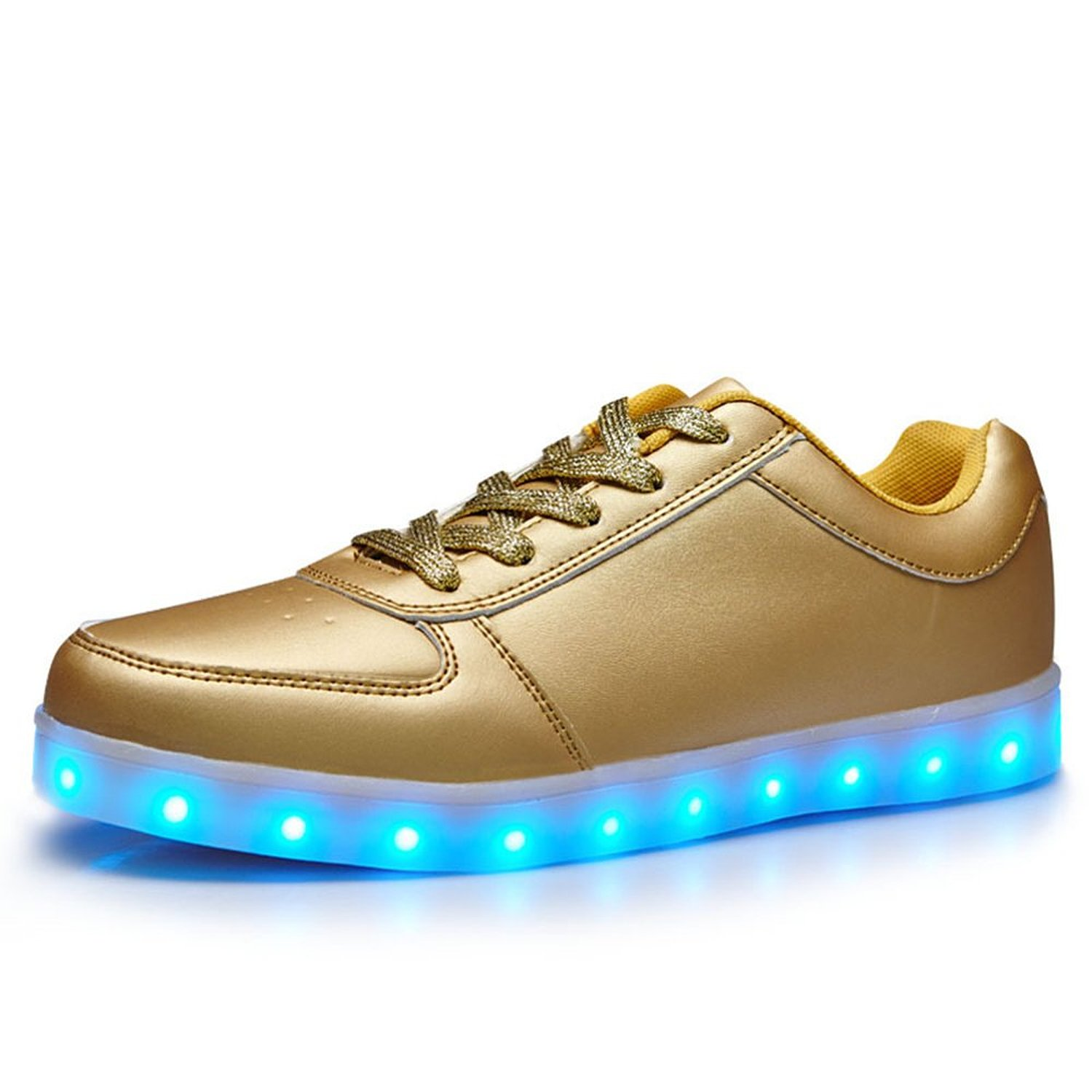 Amazon.com  Helens 7 Colors LED Light Up Shoes Gold For Adutls ... 2b4bd24e7