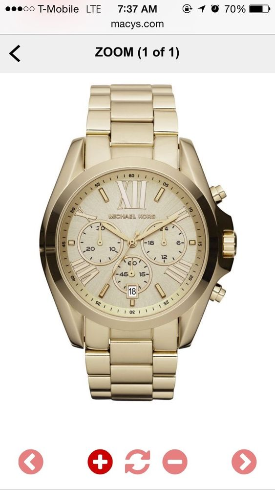 Michael kors chronograph gold tone watch bradshaw collection mk5605