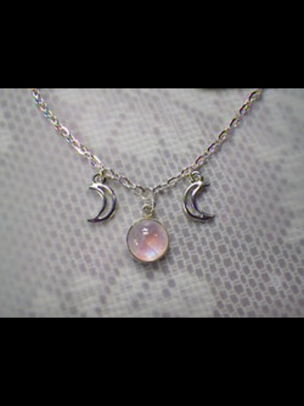 jewels cresent moon moon grunge necklace silver chain jewe purple stone crystal cute grunge girly fabby cool dope peace