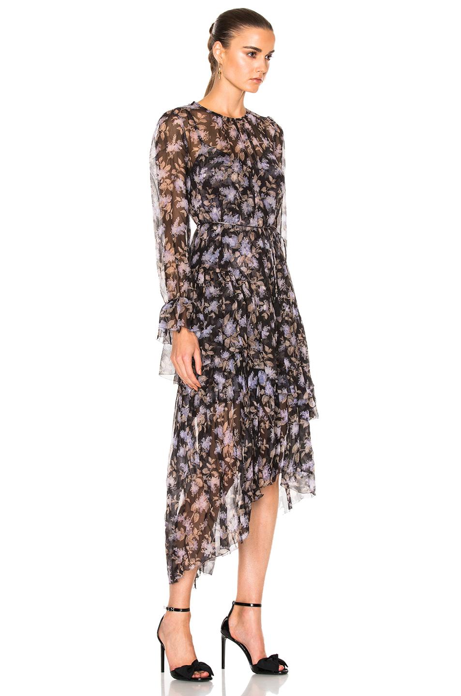 0d640879b2a Zimmermann Stranded Tier Dress in Black Lavender Floral
