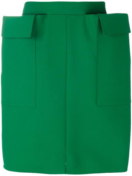 MAISON RABIH KAYROUZ skirt women spandex wool green